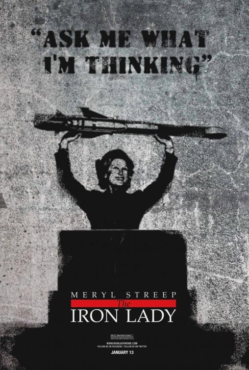 the iron lady rare subversive promo poster academy award bait meryl streep promo movie poster one sheet rare margaret Thatcher