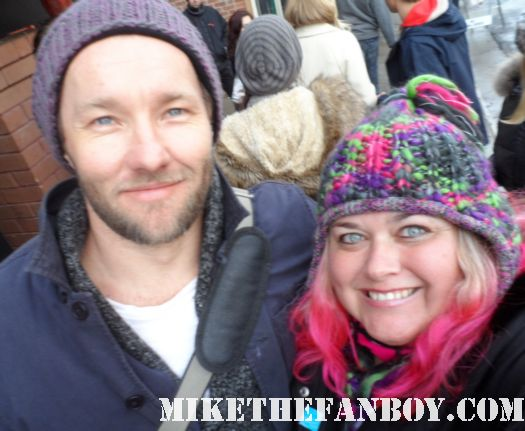 pretty in pinky takes a fan photo with warrior star joel edgerton at sundance film festival 2012! Warrior hot sexy rare