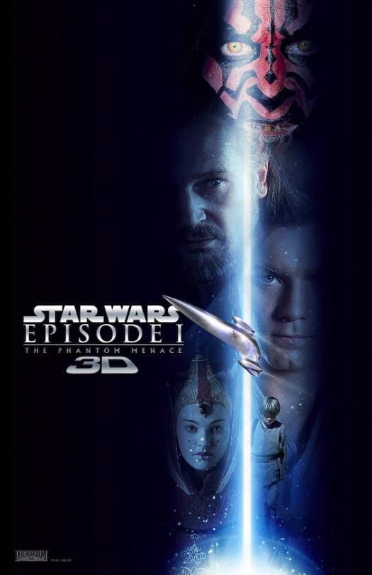 Star wars the phantom menace 3d promo poster rare darth maul movie poster one sheet promo poster lightsaber anakin skywalker ewan mcgregor liam neeson
