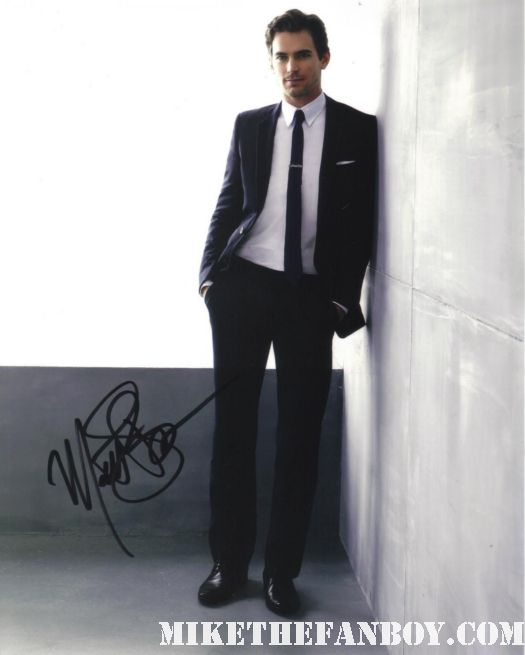 matt-bomer signed autograph hot and sexy photo from white collar and magic mike neil caffrey promo rare