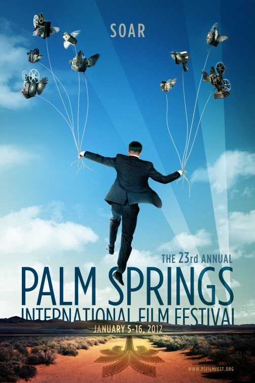 palm_springs_international_film_festival rare poster promo 2012 rare awards gala angelina jolie brad pitt promo