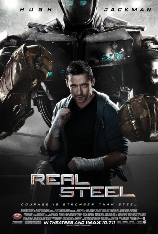real steel promo one sheet poster advance teaser mini poster hot sexy hugh jackman sweaty rare
