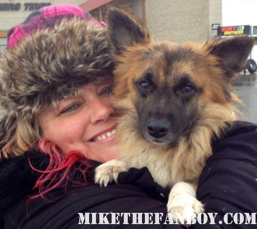 mike the fanboy star pink with her puppy dog sammy rhodes named after sam trammell