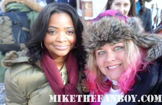 pretty in pinky with the help star octavia spencer at the sundance 2012 fllm festival rare fan photo