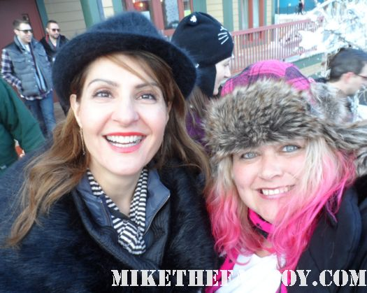 pretty in pinky with nia vardalos at the sundance 2012 fllm festival rare fan photo