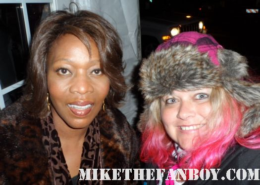 pretty in pinky with true blood star alfrie woodard  at the sundance 2012 fllm festival rare fan photo