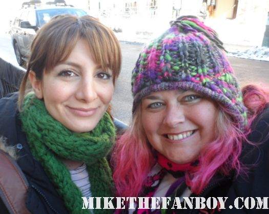 Nasim Pedrad poses with pinky from mike the fanboy at the sundance film festival 2012 rare hot sexy dancer