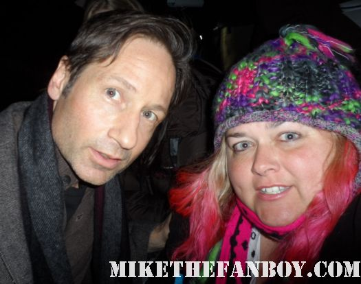 David Duchovny poses with pinky from Mike the fanboy at the sundance film festival 2012 hot sexy x files star californication