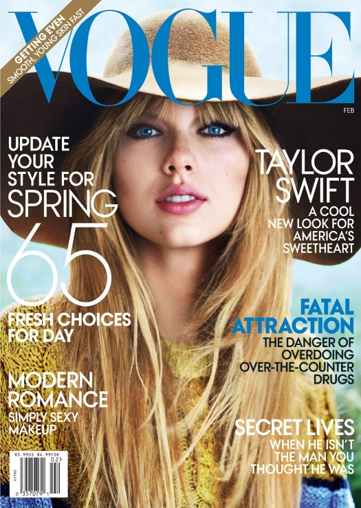 taylor swift rare vogue magazine february 2012 hot and sexy magazine cover rare promo photo shoot hot rare