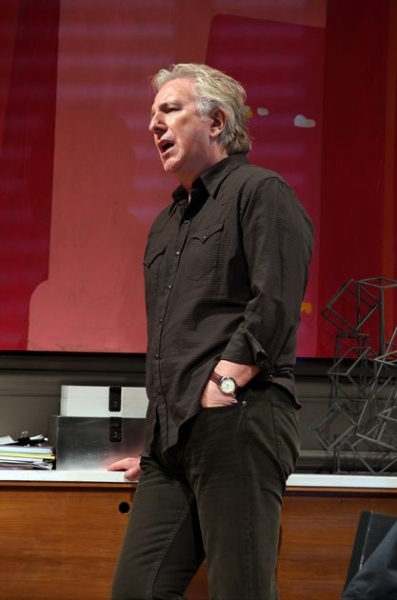 alan rickman onstage in broadway's seminar rare press promo still severus snape on broadway promo rare