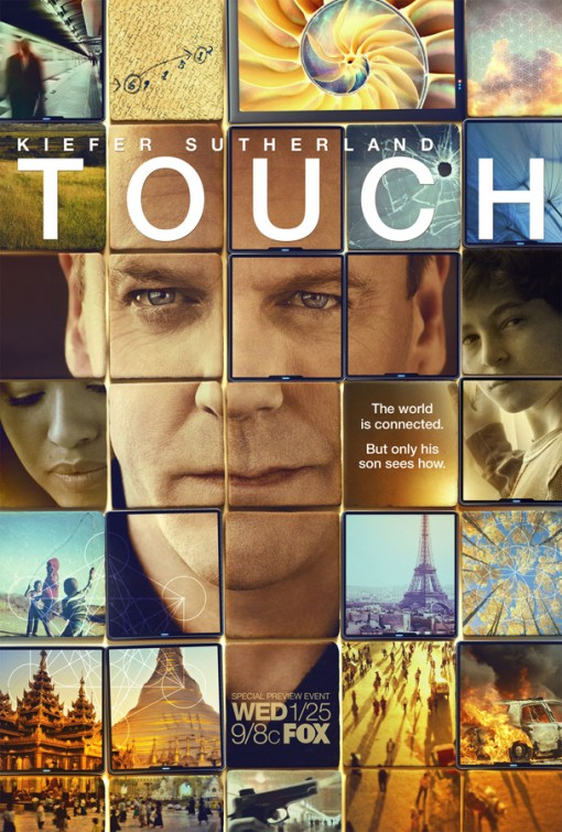 kiefer sutherland in fox's touch rare promo poster premiere rare 24 jack bauer