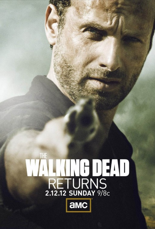 the walking dead season 2 rare promo poster the walking dead returns andrew lincoln shooting zombies amc rare promo poster