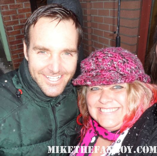 will forte posing for a fan photo with pinky at the sundance film festival 2012 rare promo hot sexy