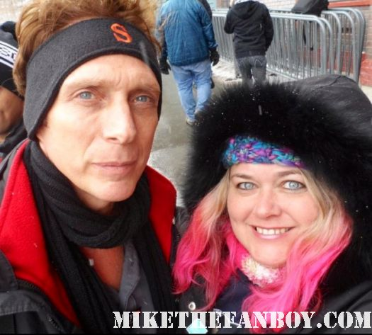 william fichtner and mike the fanboy star pinky at the sundance film festival 2012 rare signed autograph