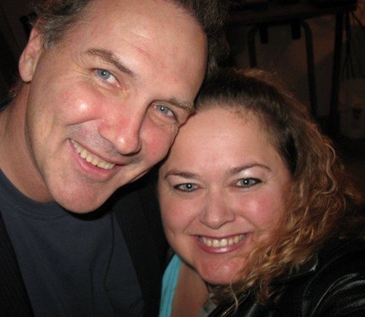 norm macdonald poses for a fan photo with pinky at the sundance film festival 2012 signed autograph rare promo