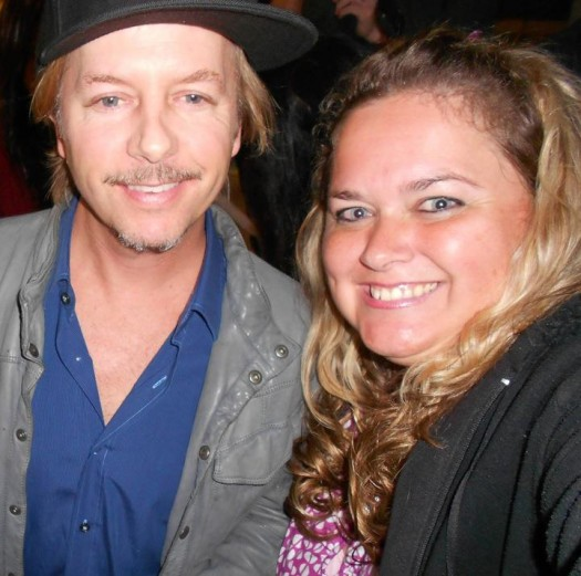 david spade poses for a fan photo with pinky at the sundance film festival 2012 signed autograph rare promo