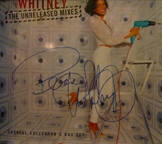 whitney houston signed autograph the unreleased remixes promo cd album hot sexy rare signature rip promo cd album cover photo shoot