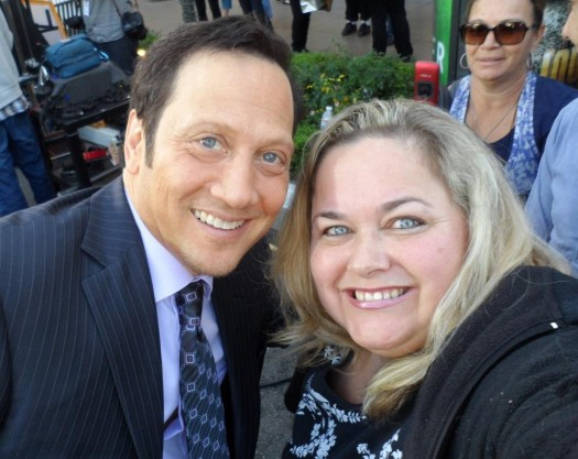 rob schneider poses for a fan photo with pinky at the sundance film festival 2012 signed autograph rare promo