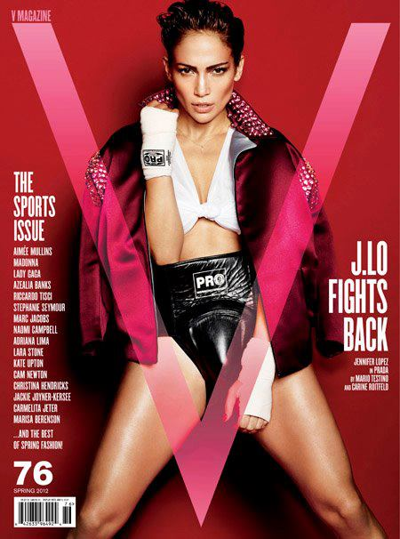 Jennifer lopez V Magazine march 2012 cover photo hot sexy boxer american idol star sexy photo shoot rare naked sexy boxing gloves
