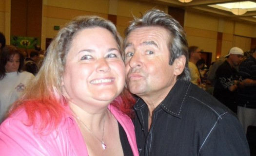 mike the fanboy writer pretty in pinky with the monkees star davy jones rip rare fan photo 2012