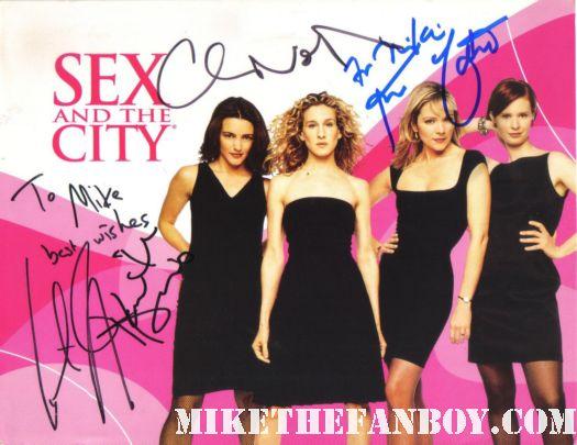 sex and the city cast promo cover signed autograph cast kristen davis cynthia nixon kim cattrall hot sexy rare promo chris noth