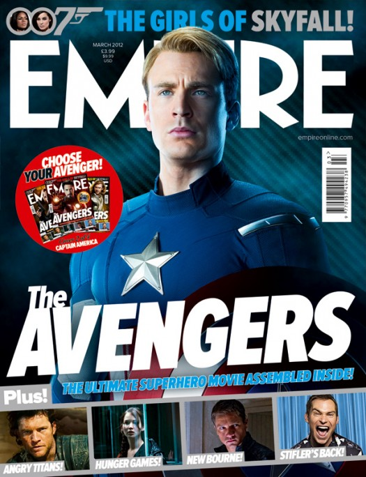 empire magazine limited edition avengers rare promo magazine cover with hot and sexy chris evans as captain america rare photo shoot joss whedon