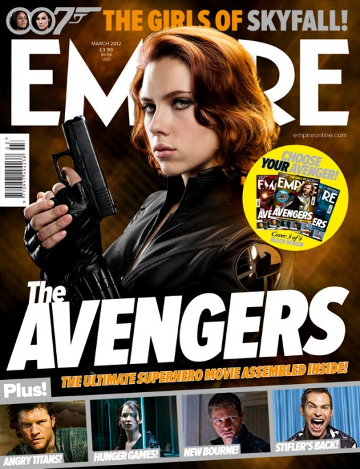 empire magazine limited edition avengers rare promo magazine cover with hot and sexy scarlett johanssen as black widow  rare photo shoot joss whedon