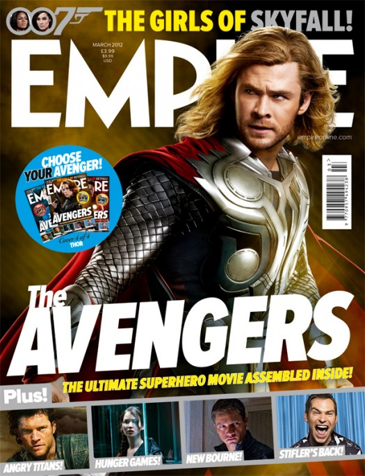 empire magazine limited edition avengers rare promo magazine cover with hot and sexy chris hemsworth as thor  rare photo shoot joss whedon