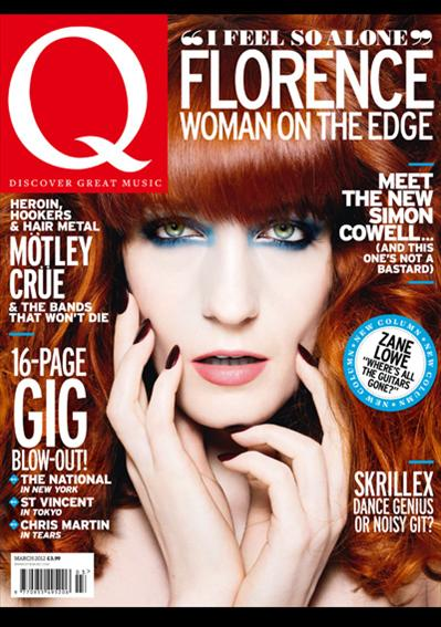 florence and the machine q magazine march 2012 magazine cover florence welch rare hot sexy promo rare