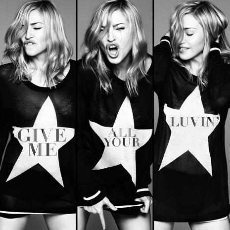 Madonna give me all your luvin' cd single promo artwork MDNA rare press promo cd single album artwork