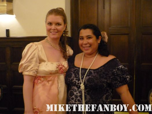 Bex and Steph  the novel strumpet from mike the fanboy putting on a tam preparing to go to the jane austin ball in los angeles put on by theSociety for Manners and Merriment in the district of Los Angeles known as Pasadena