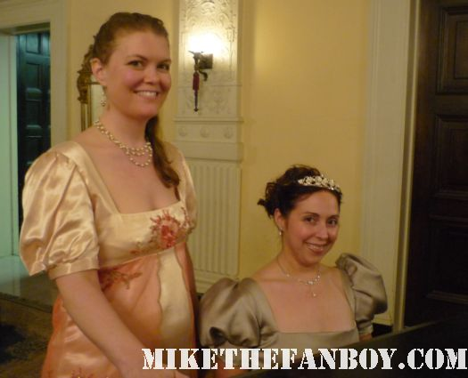 Bex and me at piano the novel strumpet from mike the fanboy putting on a tam preparing to go to the jane austin ball in los angeles put on by theSociety for Manners and Merriment in the district of Los Angeles known as Pasadena
