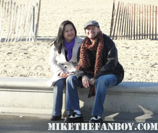 scotty and erica at the beach waiting for the the 2011 Independent Spirit Awards tent rare on santa monica beach rare promo 2011 annette benning