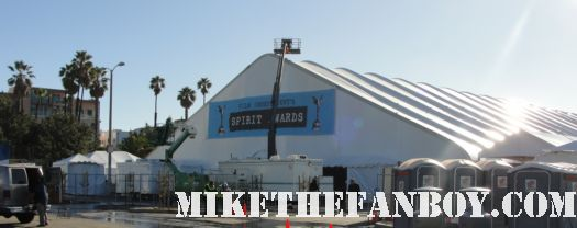 the 2011 Independent Spirit Awards tent rare on santa monica beach rare promo 2011 annette benning