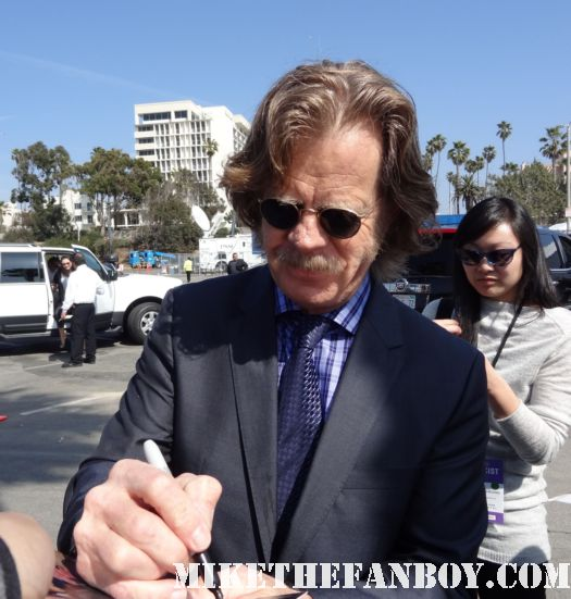 william h macy  hot sexy signs autographs for fans at the  Independent Spirit Awards 2012