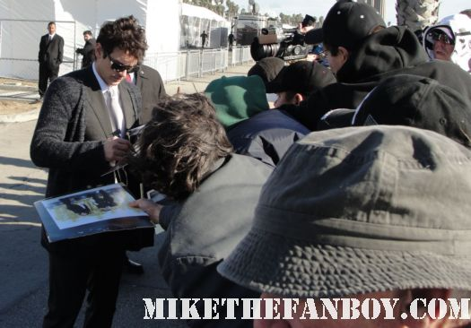 sexy and hot james franco signing autographs for fans at the 2011 Independent Spirit Awards 2011