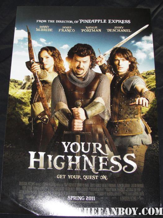 james franco signed autograph your highness rare promo mini movie poster rare promo hot sexy