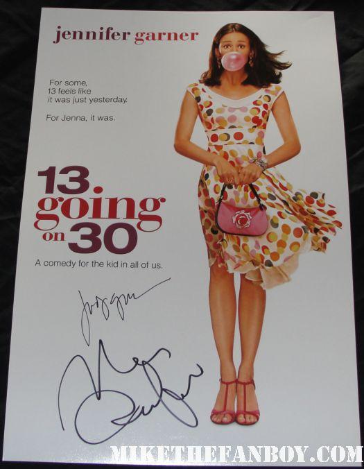 mark ruffalo signed autograph 13 going on 30 rare promo mini movie poster jennifer garner rare hot sexy jenna rink