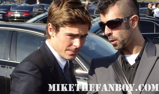 Zac Efron  hot sexy signs autographs for fans at the  Independent Spirit Awards 2012