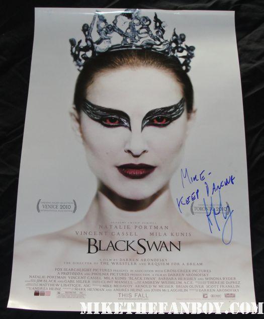 Darren Aronofsky signed autograph rare black swan rare promo mini movie poster natalie portman hot