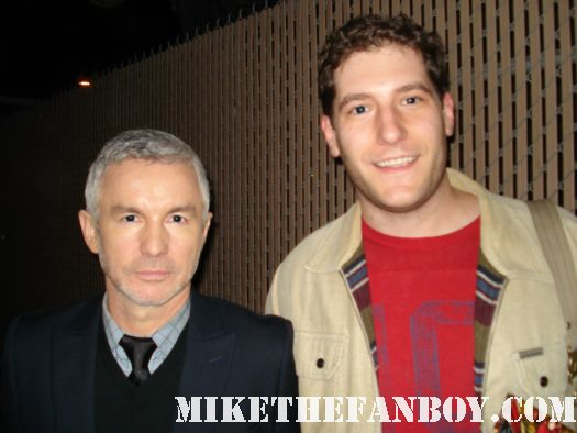 mike the fanboy posing with director baz luhrmann after a talk show taping signed autograph moulin rouge director