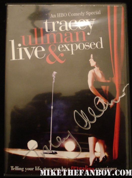 tracey ullman signed autograph live and exposed rare promo dvd signature rare promo