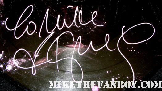 kylie minogue hand signed autograph wow picture disc pic disc album x rare promo hot sexy pink paint pen