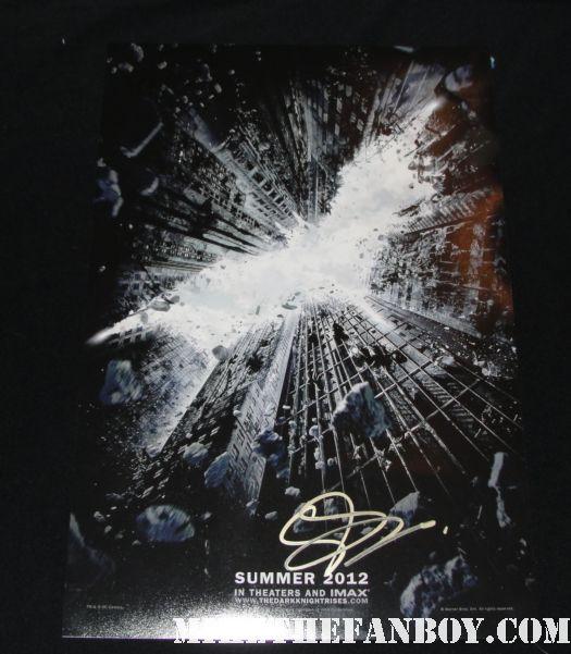 dark knight rises rare promo teaser poster promo signed autograph gary oldman rare promo batman
