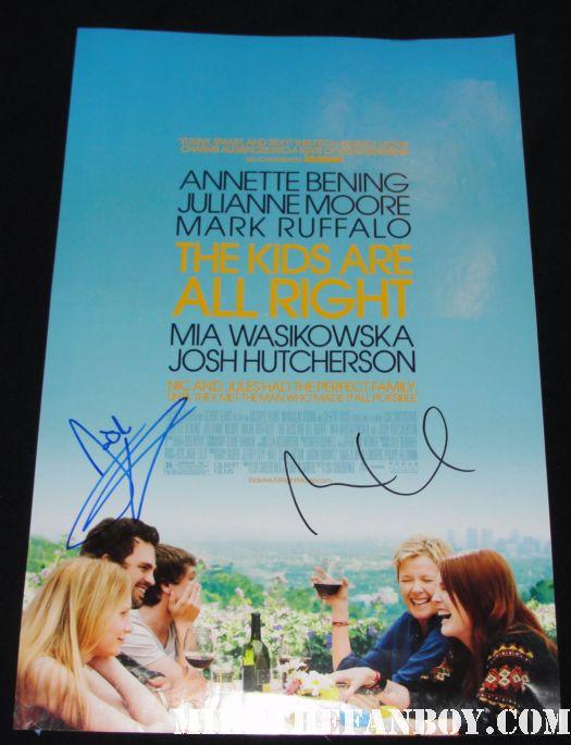 josh hutcherson signed autograph the kids are alright rare promo mini movie poster promo annette benning