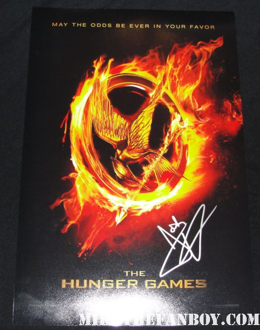 josh hutcherson signed autograph the hunger games rare promo mini movie poster rare promo the kids are alright peeta