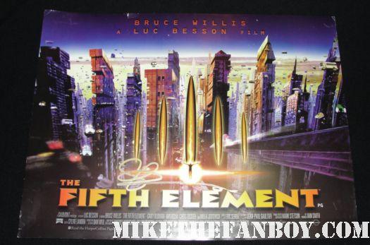 fifth element rare uk quad promo mini poster rare promo gary oldman signed autograph fifth element movie poster promo