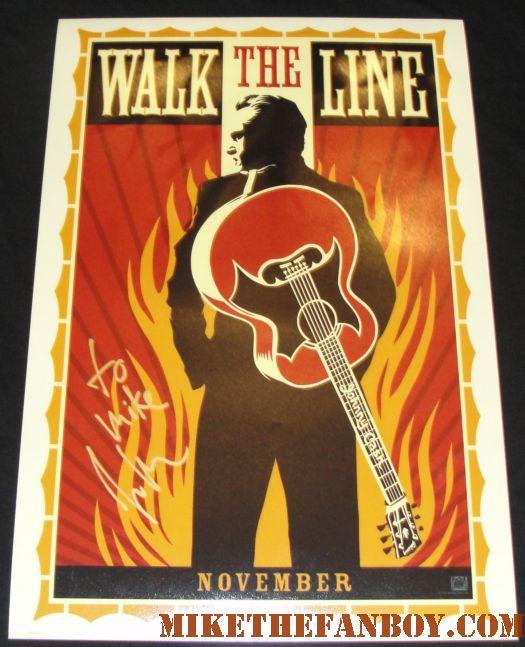 Joaquin Phoenix signed autograph walk the line rare promo mini poster johnny cash rare mini poster movie poster one sheet promo