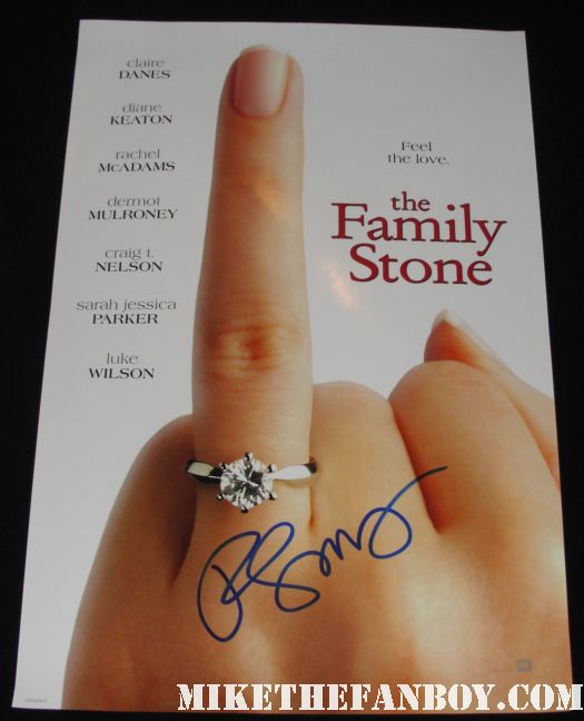 rachel mcadams signed autograph the family stone rare mini promo poster version a hot sexy