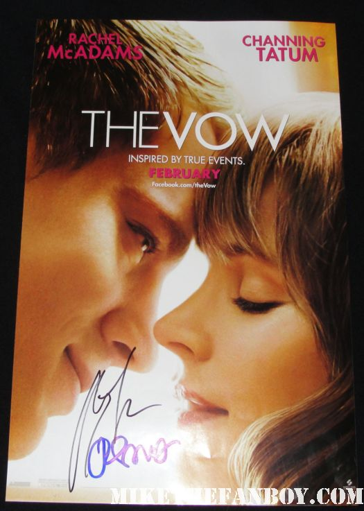 the vow signed autograph promo mini poster rachel mcadams channing tatum rare hot sexy movie poster